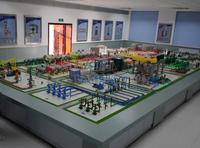湖南科威模型 采油礦場集輸(七站一所)工藝流程實訓裝置模型 KWSY-SX 12米X4米