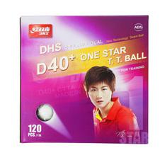 红双喜【DHS】乒乓球一星 40+赛顶ABS 1星训练兵乓球(120只装) 白色CD40C0