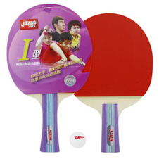 红双喜【DHS】两拍一球I型套拍家庭娱乐健身乒乓球拍
