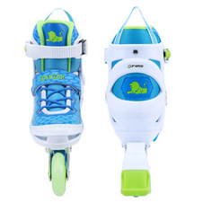 【美洲狮COUGAR】MZS767溜冰鞋儿童 欧盟品质 闪光轮滑鞋男女 滑冰旱冰鞋成人 蓝色
