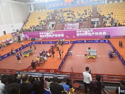 浩康布纹乒乓球地板赛事专用地板