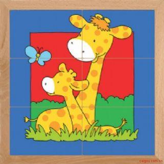 动物母子亲情系列-长颈鹿