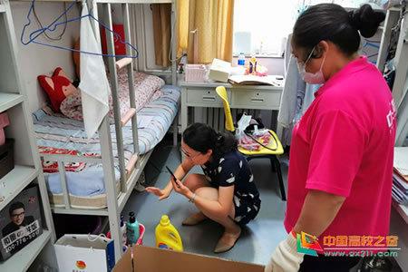北京工商大学组织在京低风险区域毕业生回校自提行李