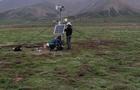 中科院海北实验站小气候观测系统调试成功