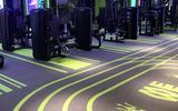 勁踏健身房地膠墊360私教地膠健身工作室地膠少兒體適能圖案定制