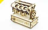 Y星球美國STEAM科學教育創客課程STEM科技小制作:斯伯坦系列V6發動機