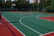 河北水利电力学院采用塑胶铺设篮球场跑道