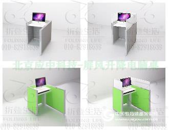 升降屏風桌機考卡座語音機考格英語考試格多功能隔斷桌