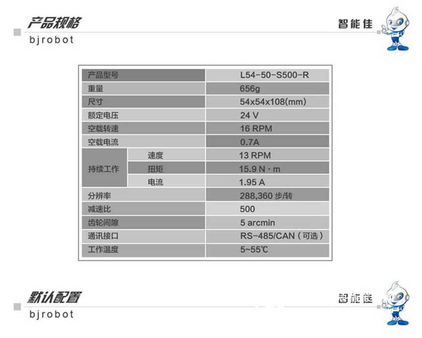 智能佳 韩国DYNAMIXEL Pro L54-50-S500-R 工业级数字机器人舵机