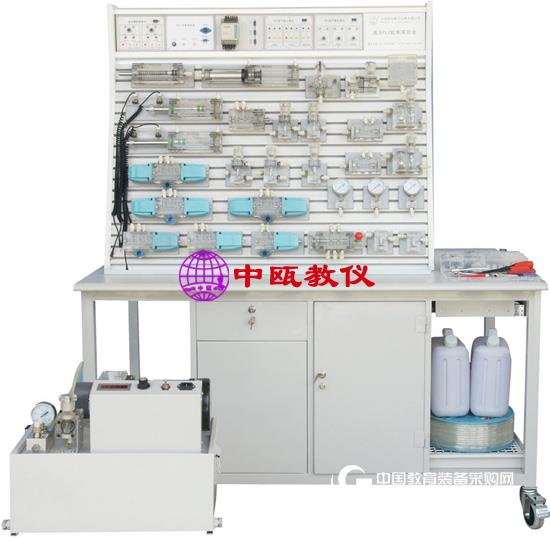 鋁槽式鐵桌液壓PLC控制實驗臺