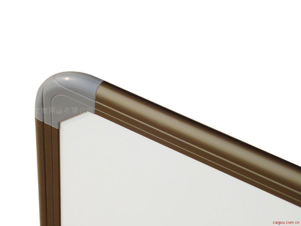 电泳氧化,香槟色的铝合金边框 ☆高档的进口烤漆钢板书写板面