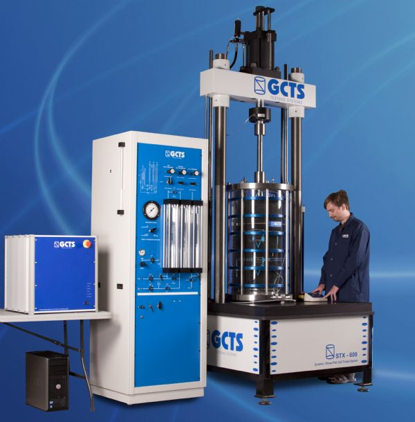 美国GCTS公司双向大型动三轴仪中标