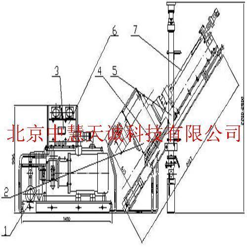 瓦斯探放钻/防突钻机煤矿用液压坑道钻机/探水钻机(50米主机) 型号:DE/ZOY-50