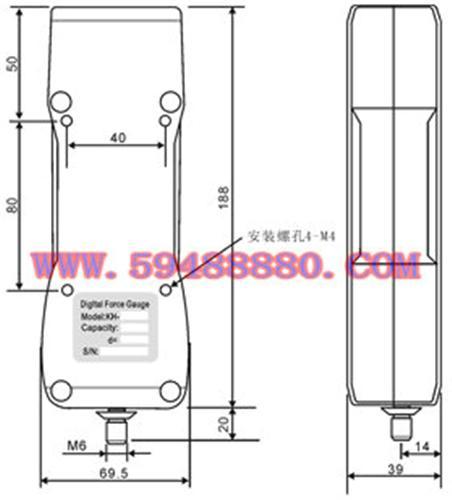 经济型数显式推拉力计 型号:UJN01/HG-1000K